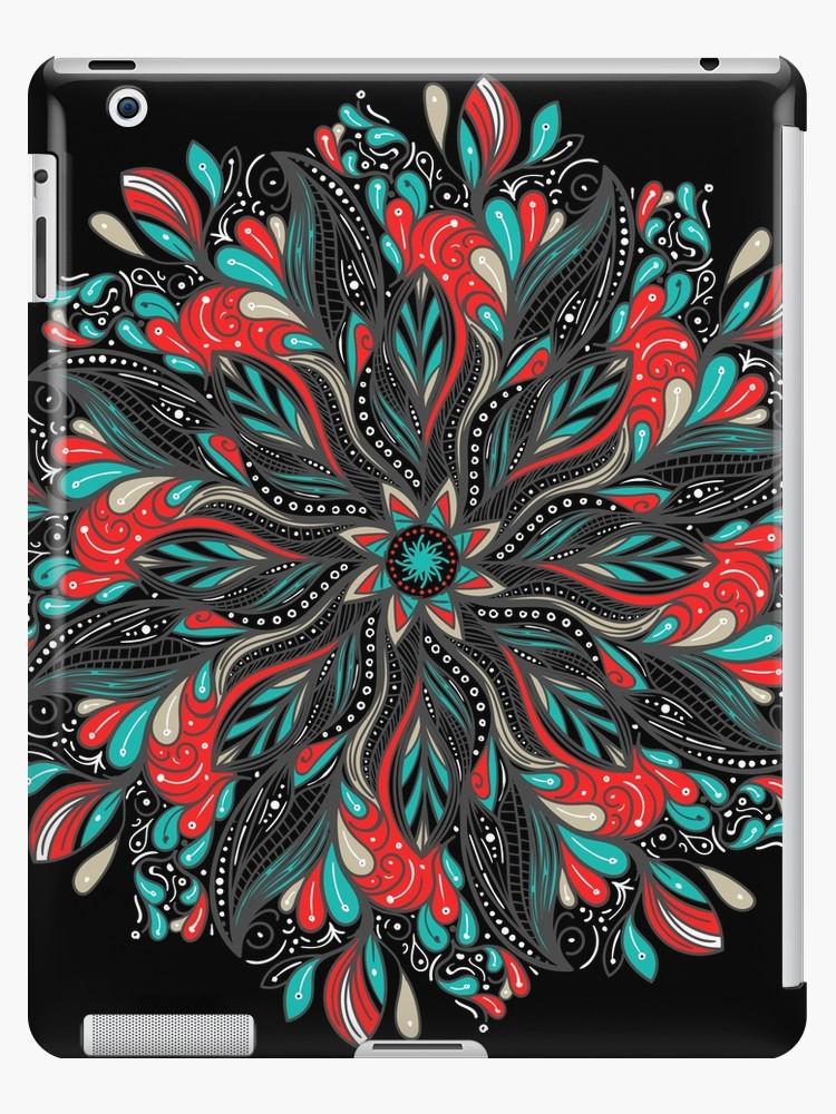 Vinilos y fundas para iPad «Mandala Flowers» de angeldecuir | Redbubble