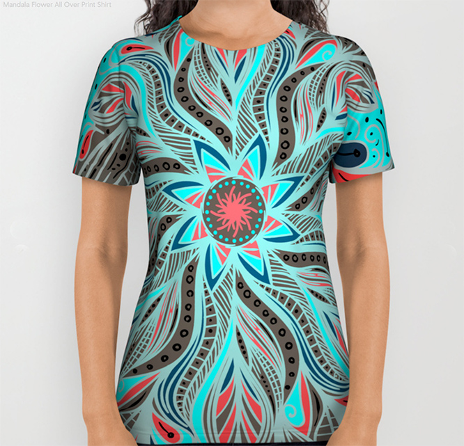 Mandala Flower All Over Print Shirt by angeldecuir | Society6