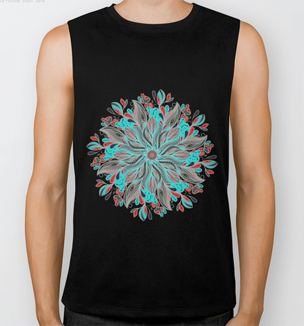 Mandala Flower Biker Tank by angeldecuir | Society6