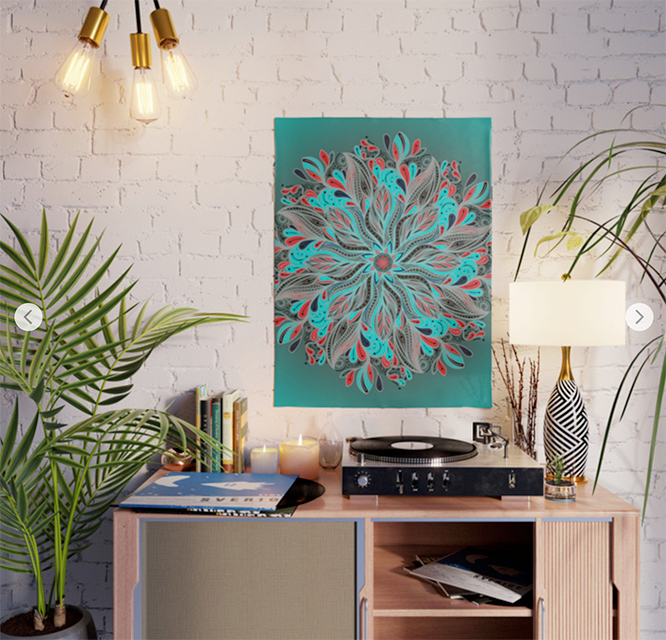 Mandala Flower Poster by angeldecuir | Society6