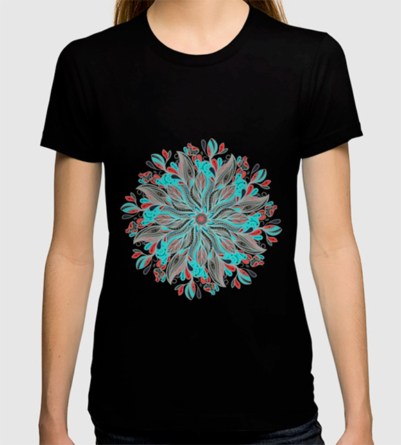 Mandala Flower T-shirt by angeldecuir | Society6