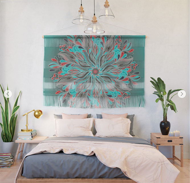 Wall hanging Mandala Flower by angeldecuir | Society6