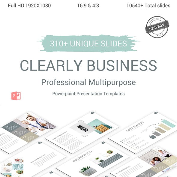 Clearly Business Powerpoint Presentation Template by BerfBox | GraphicRiver