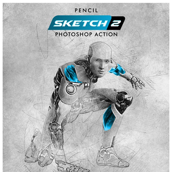 Pencil Sketch 2 Photoshop Action by Hemalaya1 | GraphicRiver