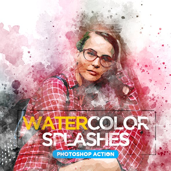 Watercolor Splashes - Photoshop Action by haicamon | GraphicRiver