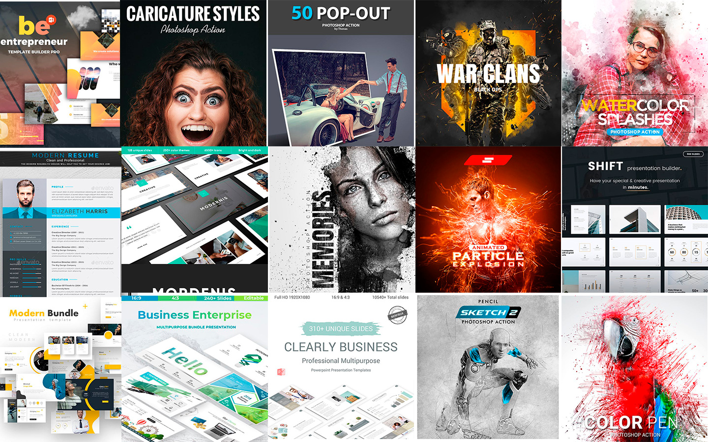 20 graphics top best sellers del mes en Graphicriver