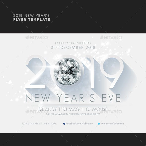 2019 New Year's Flyer Template by Easybrandz2 | GraphicRiver