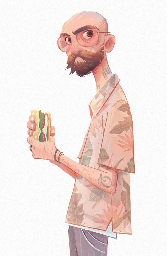 Closeup dude character design - noah demirci