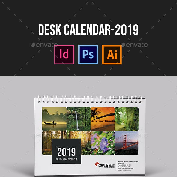 Desk Calendar for 2019 | Updated by smmr | GraphicRiver