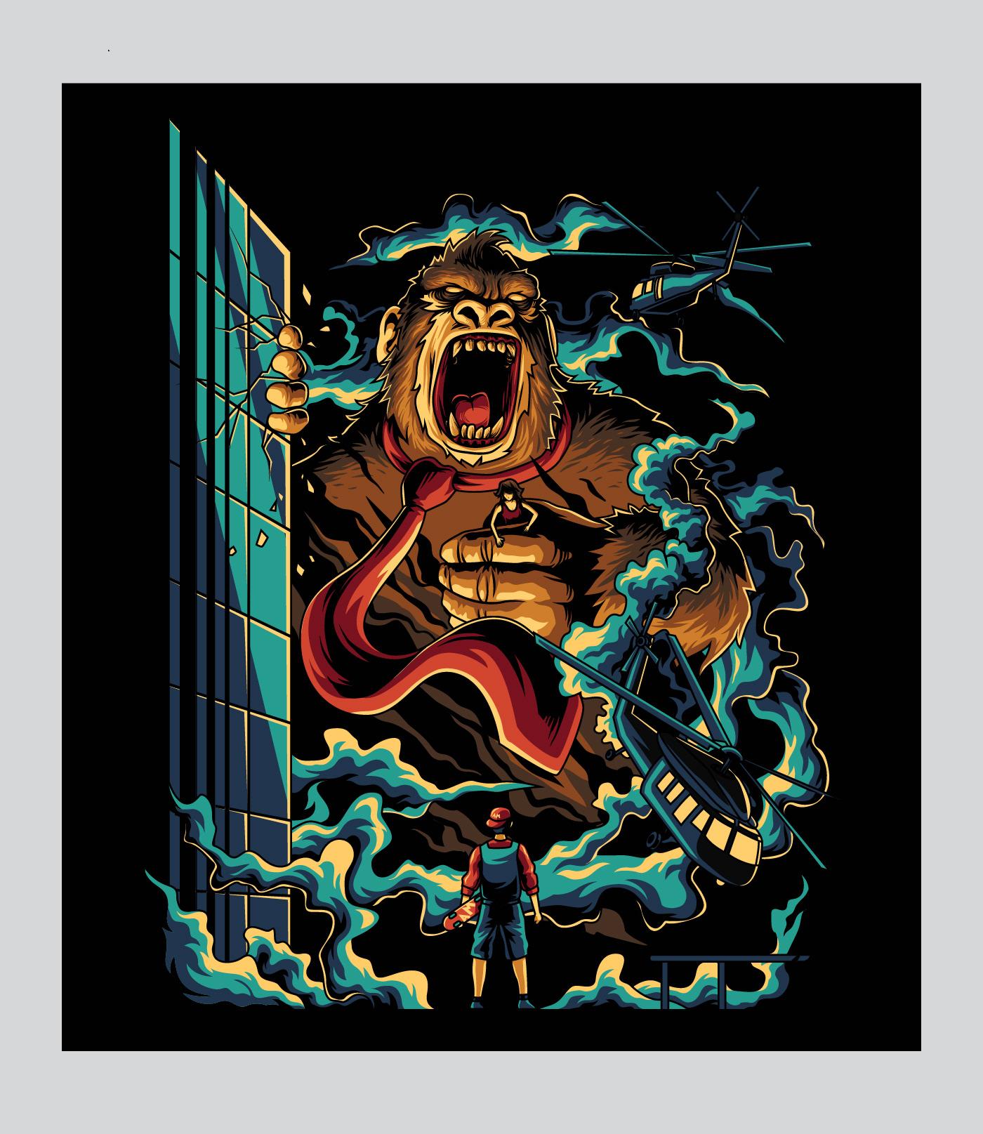 Ilustración Donkey Kong de Angga Tantama.