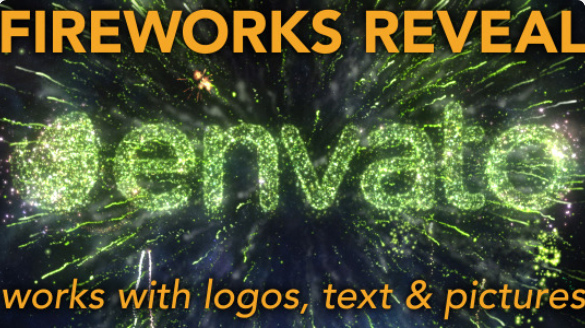 Fireworks Reveal - for logos, text and pictures by CinnamonVisualFX