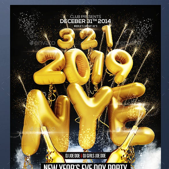 NYE Flyer by iaoai | GraphicRiver