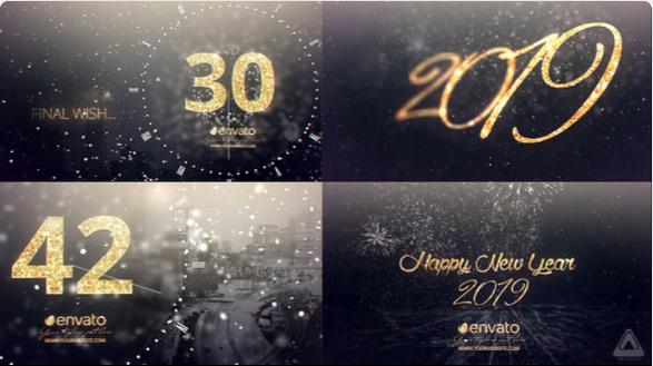 New Year Midnight Gold Countdown by FVS | VideoHive