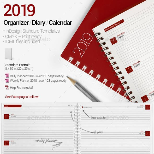 Planner / Organizer / Diary / Calendar 2019 by re_start | GraphicRiver
