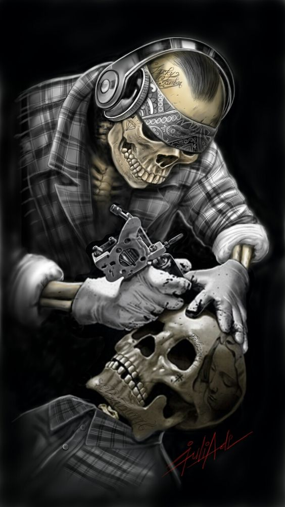 Tattoo Skull - Arte por Pandeart80.