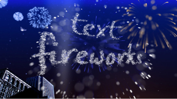 Text Fireworks by steve314 | VideoHive