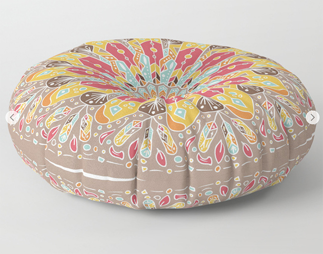 Mandala Boho Style Floor Pillow by angeldecuir | Society6