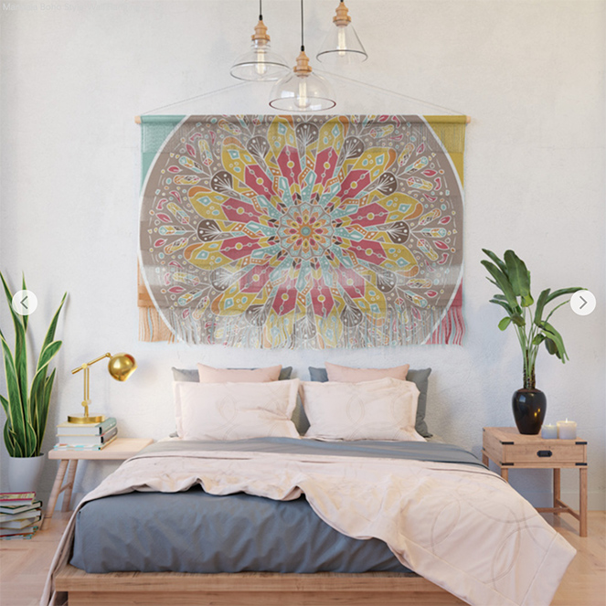 Mandala Boho Style Wall Hanging by angeldecuir | Society6