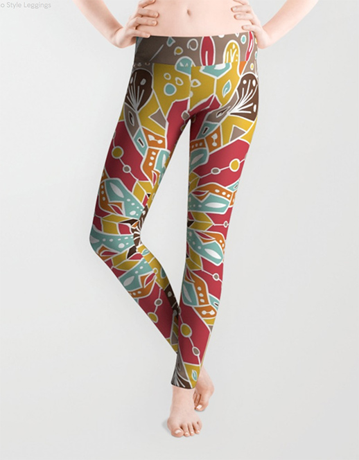 Mandala Boho Style Leggings by angeldecuir | Society6