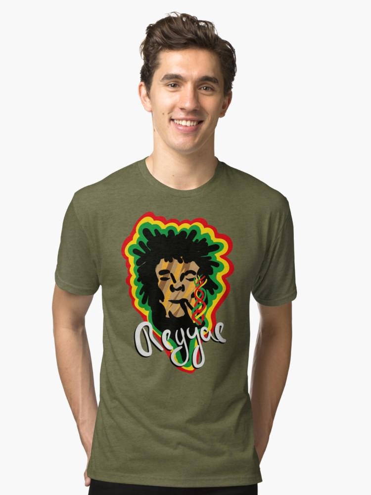Camiseta de tejido mixto - Smoke Reggae - Angel Decuir - Redbubble