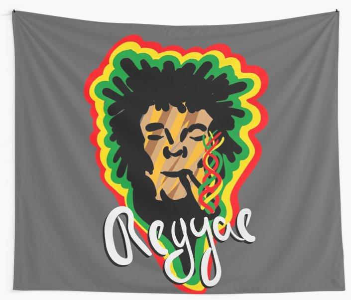 Telas decorativas «Smoke Reggae» de angeldecuir | Redbubble