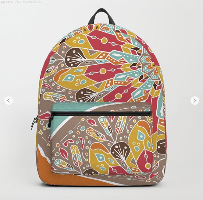 Mandala Boho Style Backpack by angeldecuir | Society6