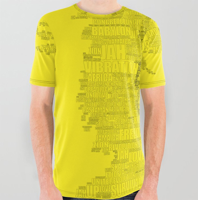 Words Reggae All Over Graphic Tee by angeldecuir | Society6