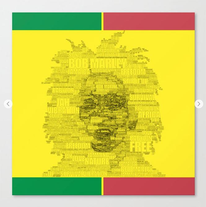 Words of Reggae Canvas Print by angeldecuir | Society6