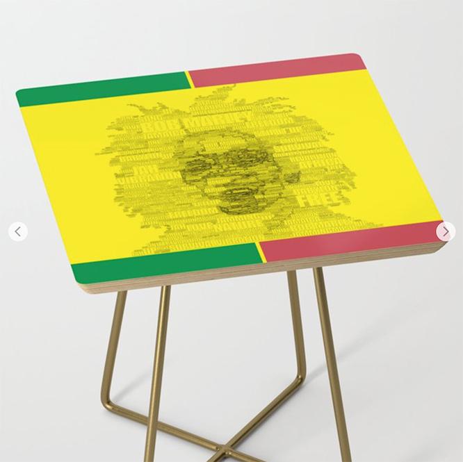 Reggae Side Table by angeldecuir | Society6
