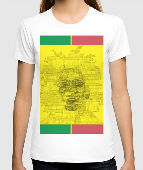 Words Reggae T-shirt by angeldecuir | Society6