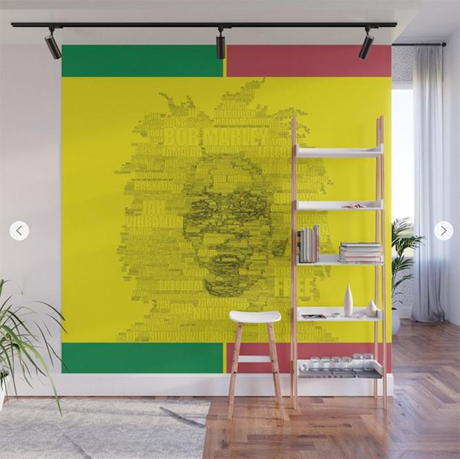 Words Reggae Wall Mural by angeldecuir | Society6