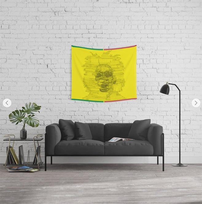 Words Reggae Wall Tapestry by angeldecuir | Society6
