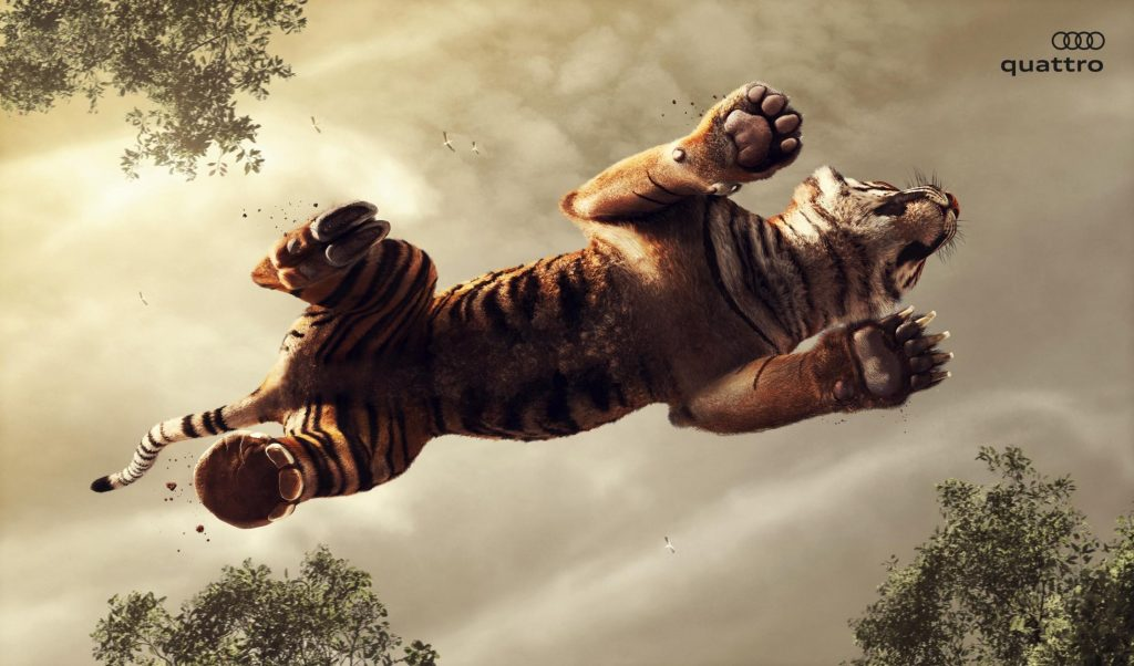 Audi Quattro - Wolf - Tiger Campaign Turkey Agency Network- Tribal