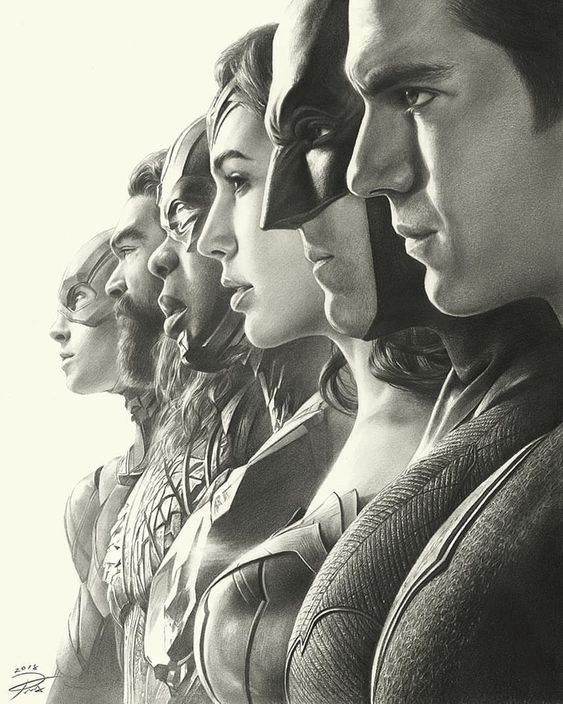 Justice League por Yin Yuming