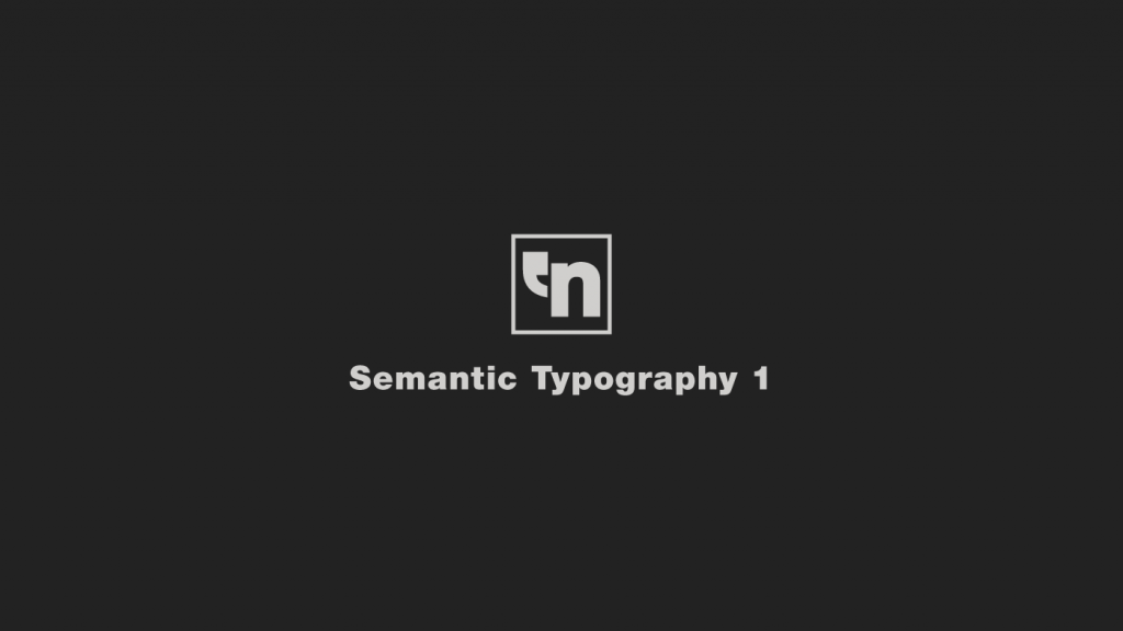 Semantic Typography 1 por Helvetiphant