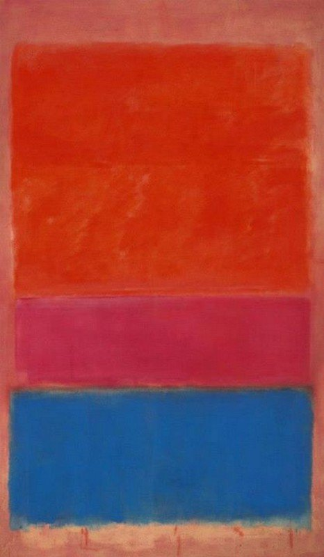 Mark Rothko ROYAL RED AND BLUE - 1954