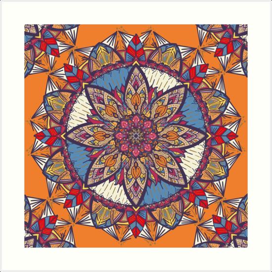 Láminas artísticas «Transformaciones» de angeldecuir | Redbubble - Mandala