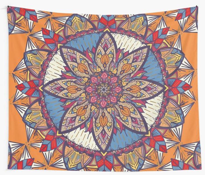 Telas decorativas «Transformaciones» de angeldecuir | Redbubble - Mandala