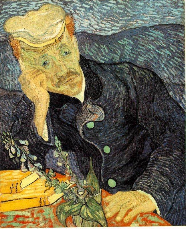Vincent Van Gogh RETRATO DEL DR. GACHET - 1890