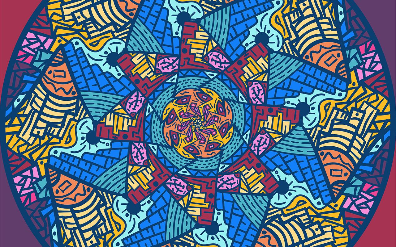 Mountain abstract - un mandala diferente para society6