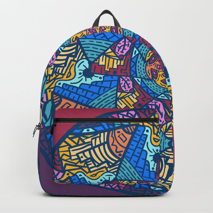 Mountain abstract mandala Backpack by angeldecuir | Society6