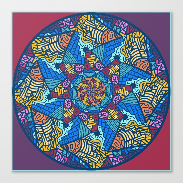 Mountain abstract mandala Canvas Print by angeldecuir | Society6