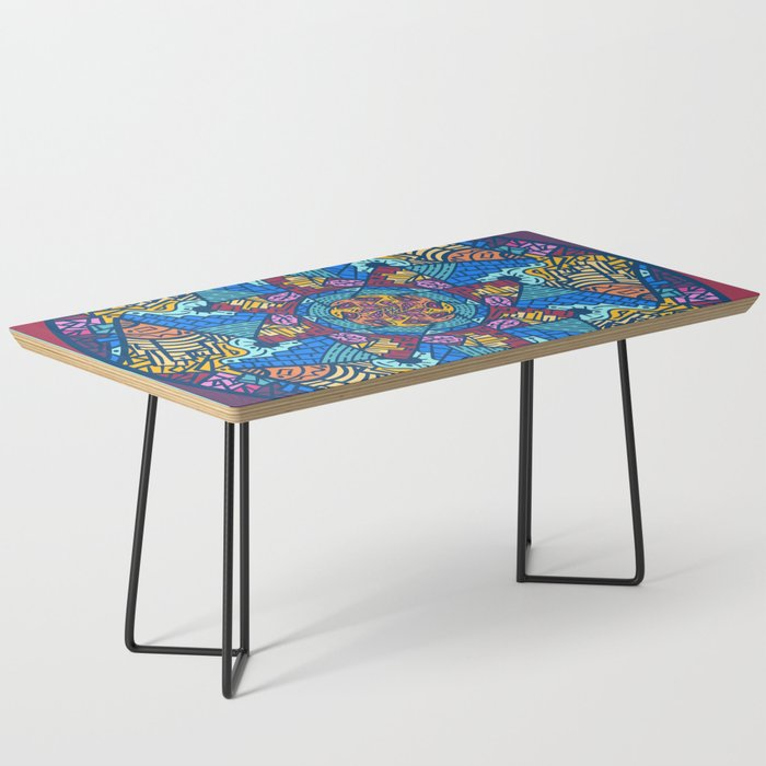 Mountain abstract mandala Coffee Table by angeldecuir | Society6