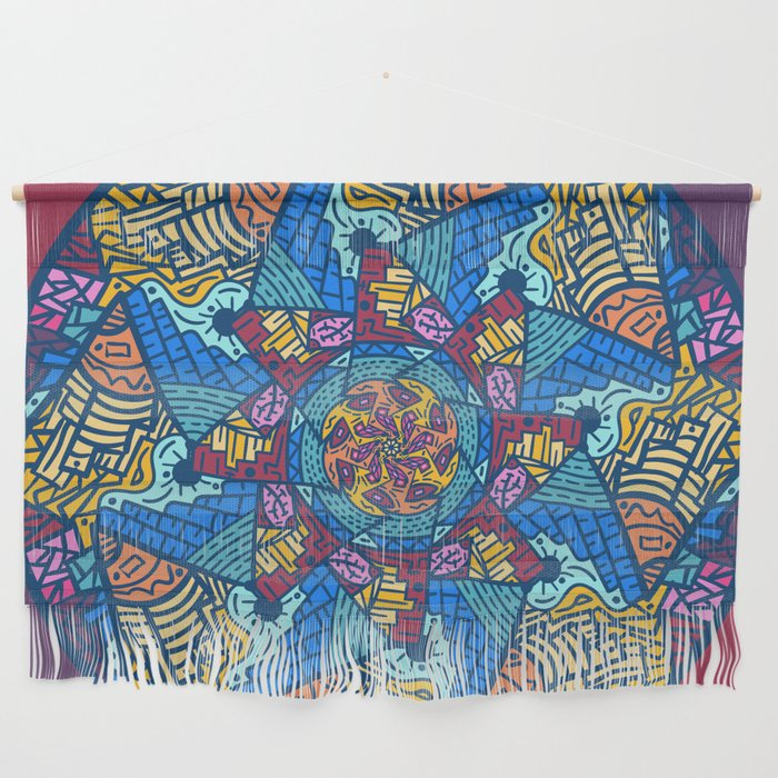 Mountain abstract mandala Wall Hanging by angeldecuir | Society6
