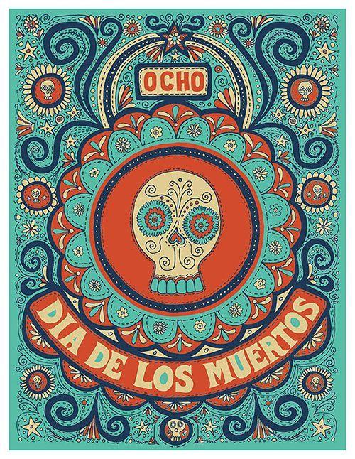 Dia de los Muertos illustration - Mishka Westell