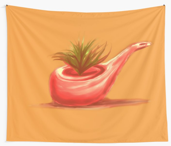 Telas decorativas «Pipe 2 painting» de angeldecuir | Redbubble