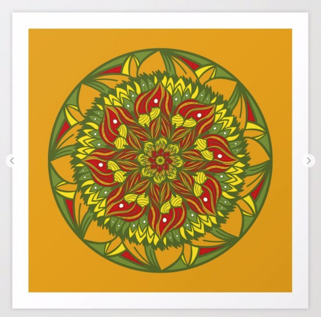 Summer mandala 4 Art Prints de Society6