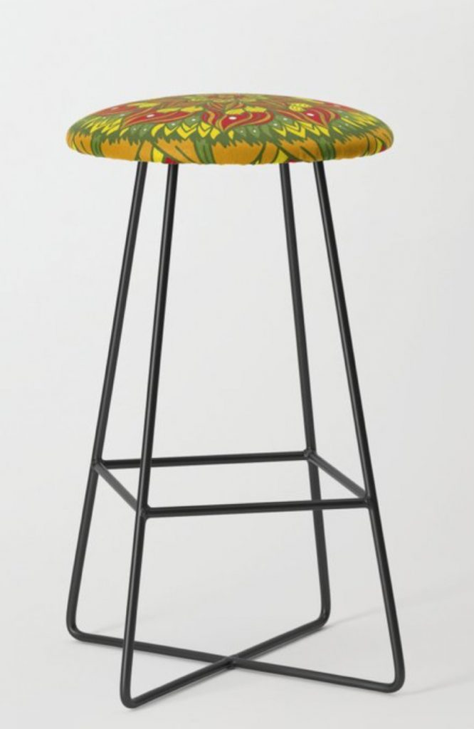 Summer mandala 4 Bar Stool by angeldecuir | Society6