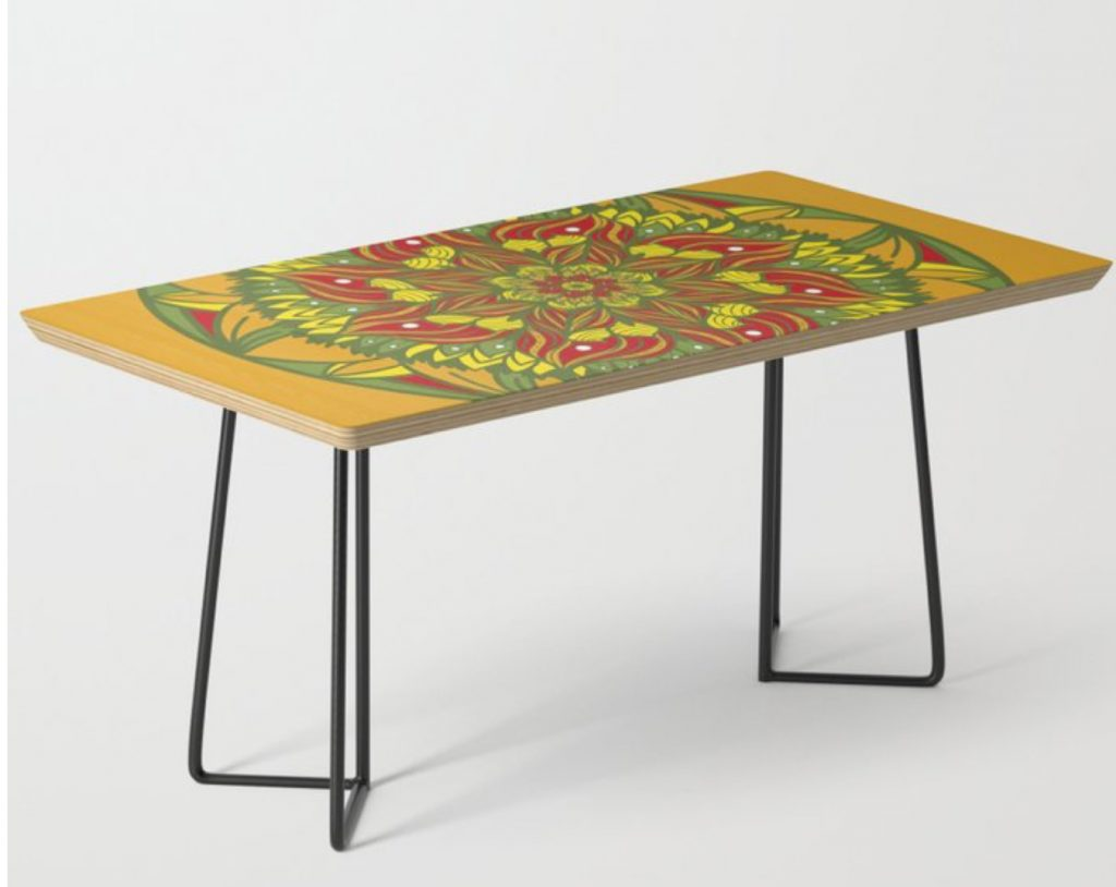 Summer mandala 4 Coffee Table by angeldecuir | Society6