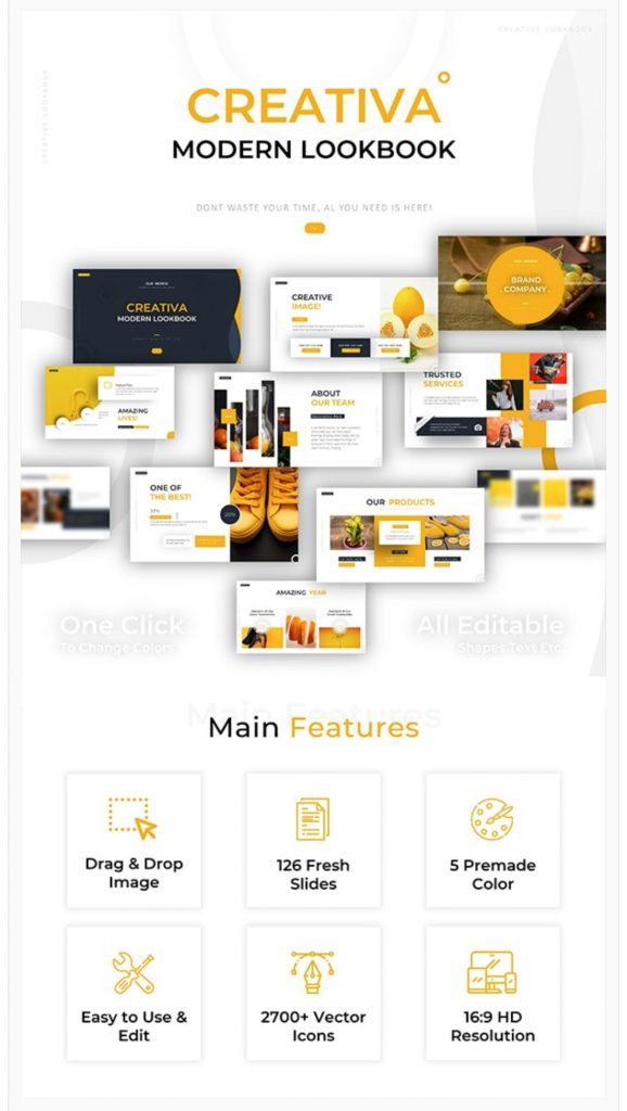 Creativa Modern Lookbook Powerpoint por Picture_Design / GraphicRiver